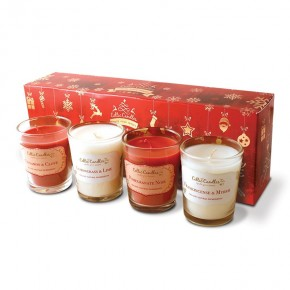 Christmas 4 pack votive Red