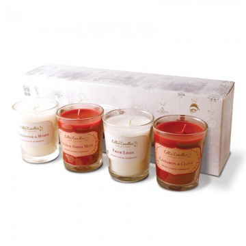 Christmas 4 pack votive White