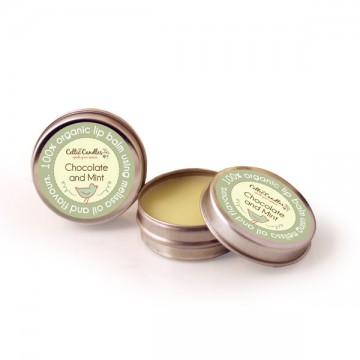 Organic lip balm Chocolate and mint