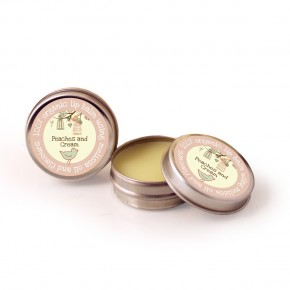 Organic lip balm Peaches and cream
