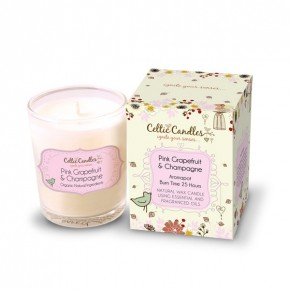 9cl Votive Pink grapefruit and champagne