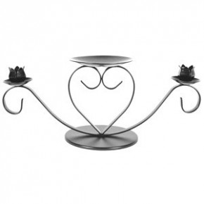 Wedding stand heart silver